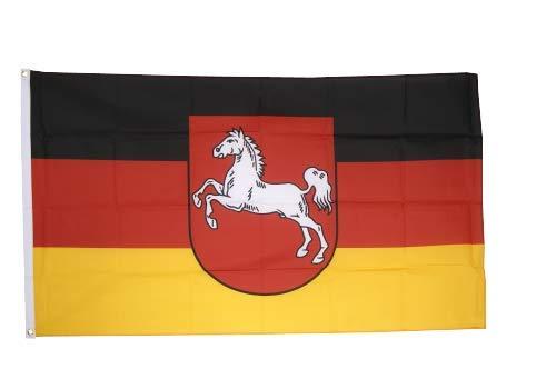 Flaggenfritze® Fahne Flagge Niedersachsen 90 x 150 cm Premiumqualität