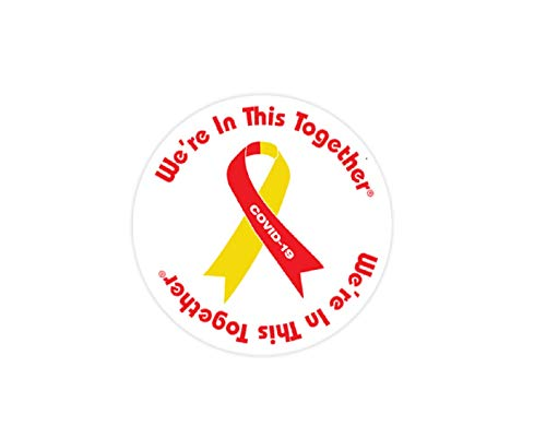 Fundraising For A Cause | Coronavirus Awareness Ribbon Button Pins – Bulk Red & Yellow Pins for COVID-19 Awareness, Fundraising & Gift-Giving (2 Pins)