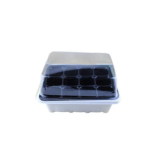 MH, vasetti in plastica per piantare Semi, Kit per Coltivare Piante e germinazione, con Cupola e Base