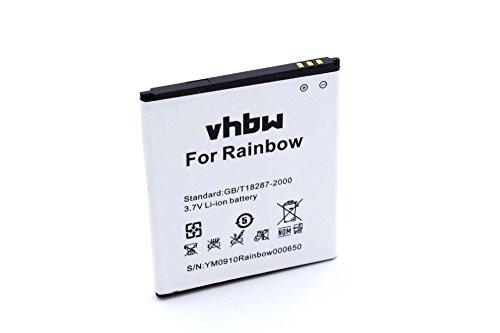 vhbw batteria compatibile con NGM Dynamic Milo, Forward Escape smartphone cellulare telefono cellulari (2000mAh, 3,7V, Li-Ion)