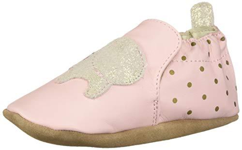 Robeez Girls' Soft Soles Crib Shoe, Pink, 0 Months-6 Months Toddler