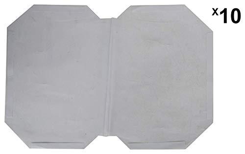 IMPRINT Adhesive Book Cover (Transparent, Pack of 10) Bigger Size (28 cm x 18.5 cm)