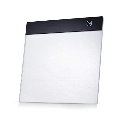 DYecHenG Tablero de Copia LED Caja De Luz A5 Portátil A5 Tablero De Copia De Trazado con Control De Brillo Continuo para Visualización de Rayos X (Color : Black, Size : One Size)