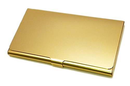 スリップオン ツインカードケース アルマイト アルミ ゴールド EMG-6801