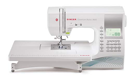 SINGER | Quantum Stylist 9960 Computerized Portable Sewing Machine with 600-Stitches, Electronic...