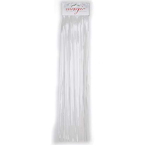 Inge Glas Christmas Goods Lametta glatt 50 cm weiß Weihnachtsbaum (Lametta glatt 50 cm weiß)