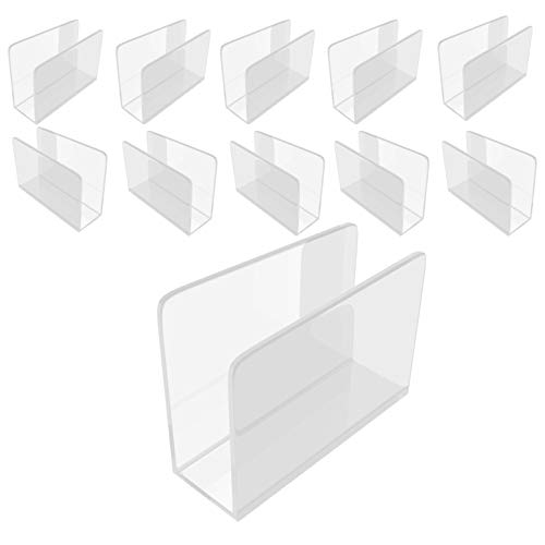 Danieli | Kit da 10 pz Portatovaglioli Plexiglass Trasparente | Porta tovaglioli da tavola in acrilico | Porta salviette da bar e Segnaposto dal design moderno (12 x 9 x 4 cm)