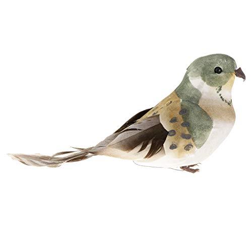 Pájaros Artificiales Realistas Figura Jardín Al Aire Libre Decoración Del Hogar -...