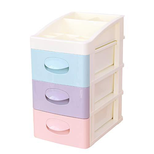 Boîte de Rangement cosmétique en Plastique Multicouche Type de tiroir Rouge à lèvres Bijoux Boîte de Rangement pour Produits de Soins de la Peau FANJIANI (Size : 28 * 20 * 37cm)