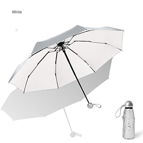 H/A Mini-Regenschirm mit 8 Rippen, Anti-UV, Paraguas, Sonnenschirm, Regenschirm, winddicht, faltbar, tragbar, für Damen und Herren, TOM-EU (Farbe: Spinnrute)