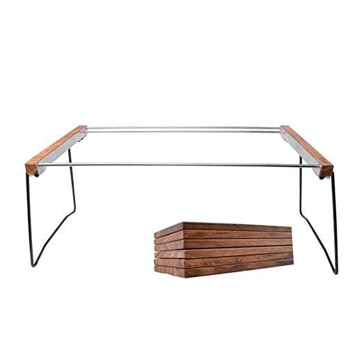 31EoaV ZAdL - Klappbarer Camping-Tisch Tragbarer Picknicktisch Ebenholz Kombinierter Multifunktions-Klapptisch mit Aufbewahrungstasche für Catering Camping Trestle Picknickgarten Patio BBQ Party Lili