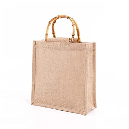 Yeeyf Jute boodschappentassen, kruidenierswinkel boodschappentas grote, boodschappentassen herbruikbare…