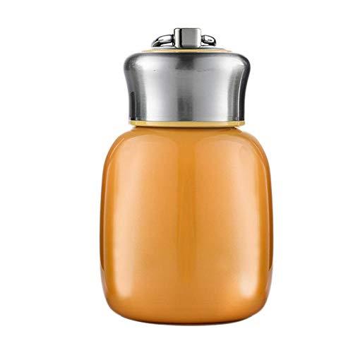 Thermoses Flasks - Botella de agua caliente pequeña de 200 ml, botella de agua fría, portátil, de acero inoxidable, mantiene las bebidas, café, leche caliente y fría durante 6 – 12 horas (nara