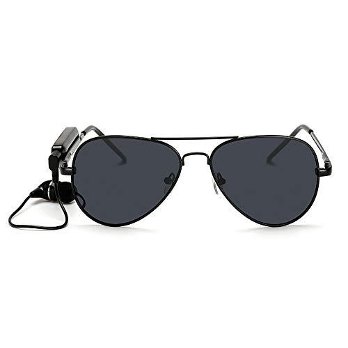 XMSIA Polarized Sunglasses for Men and Women Wireless Bluetooth Headsets Polarized Lenses Sunglasses Stereo Handfree Headphone Sports Sunglasses (Color : Black)