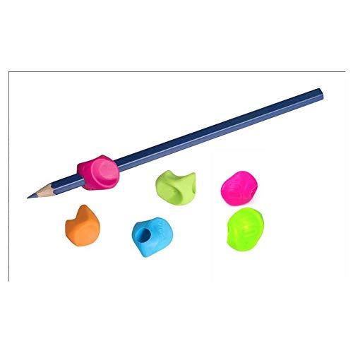 JPC CRÉATION Lot de 6 Grippies Aide écriture (Guide doigt) Grip coloris aléatoire