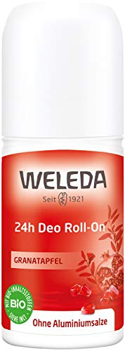 WELEDA Granatapfel 24h Deo Roll-on, natürliches Naturkosmetik Deodorant mit einem sinnlichen Dufterlebnis, wirksamer Schutz vor Körpergeruch, 24 Stunden zuverlässig ohne Aluminium (1 x 50 ml)