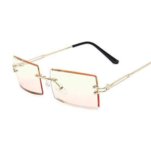 U/N Gafas de Sol cuadradas de Color Rosa púrpura a la Moda para Mujer, Gafas de Sol Retro para Mujer, Lente Rectangular, Vintage, pequeño-10