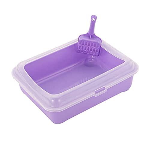 Caja de arena grande no palo Recubrimiento sin paletas para mascotas para mascotas para mascotas sin paletas para facilitar la limpieza y la higiene superior ( Color : Purple , Size : 30x38x12.5cm )