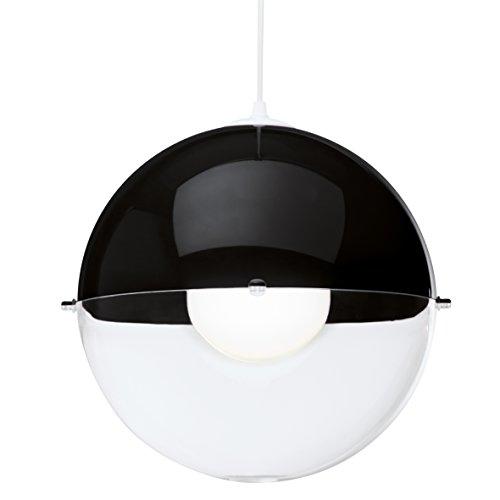 koziol Pendelleuchte  Orion,  Kunststoff, schwarz mit transparent klar, 31,5 x 31,5 x 30,5 cm