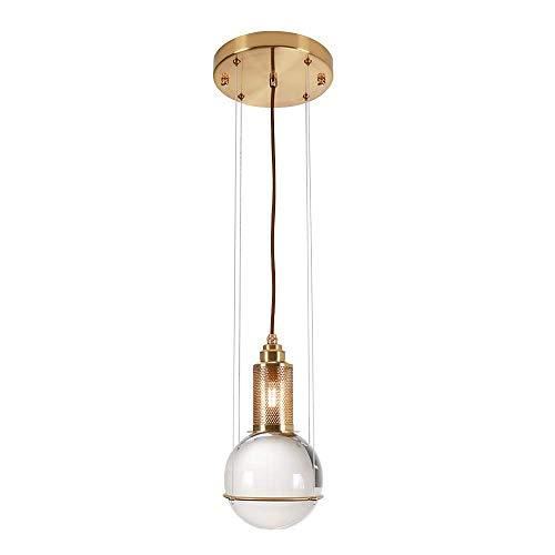 ZYY Lustre en cristal rond post-moderne nordique personnalité simple plafond en verre éclairage intérieur éclairage extérieur bar salon chambre étude porche villa luminaire 220 / 240W A +++