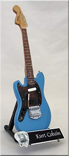 KURT COBAIN - Guardabarros miniatura para guitarra Jagstang Nirvana, color azul
