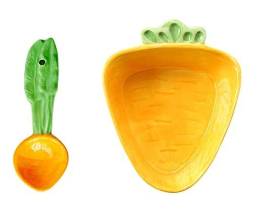 ZX Cartoon Rettich Schüssel Löffel Set Keramik Dessert Schüssel Eisschale Sauce Dip Schüssel Schüssel Geschirr Kinder Geschenk (Color : Orange)