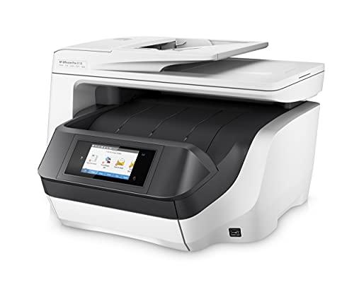 HP OfficeJet Pro 8730 D9L20A, Impresora Multifunción Tinta, Imprime, Escanea, Copia y Fax, Wi-Fi, Ethernet, USB 2.0, 1 host USB, HP Smart App, Compatible con el Servicio Instant Ink, Blanca