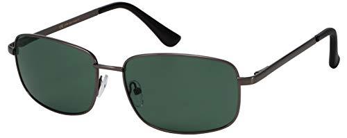 La Optica B.L.M. Sonnenbrille Damen Herren UV400 Pilotenbrille Fliegerbrille - Gunmetal Grau (Gläser: Grün klassisch)