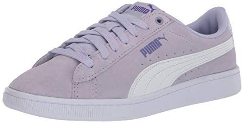 PUMA womens Vikky Sneaker, Purple Heather-puma White Purple Corallites, 8.5 US