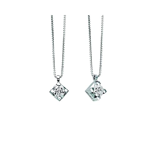 Collana girocollo punto luce Recarlo in oro bianco con diamante P30PX350/030-45