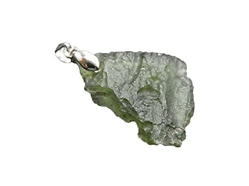 Top 2021 - Collar de Moldavita, joyería de Moldavita cruda, collar de Moldavita natural de Meteorito Alambre Envoltura de Piedra Verde de Moldavita Checa, Collar de Moldavita Crudo de Moldavita