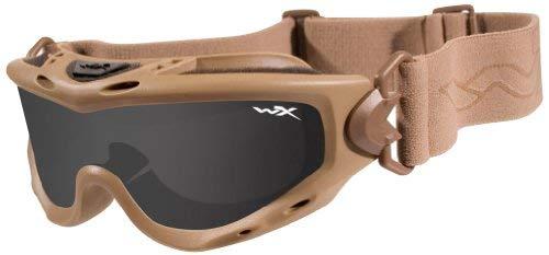 Wiley X Spear Lunettes de Protection en kit avec 2 Paires de Verres Gris fumé et Transparent M-L Beige - Marron