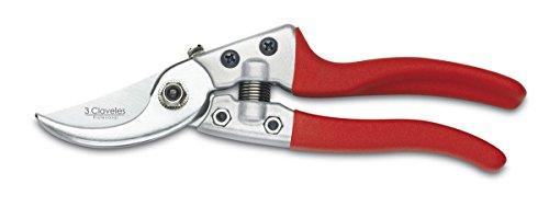 3 Claveles 307 Tijera de Podar Profesional de Acero Carbono y Mango Inyectado en Aluminio-21 cm / 8, 21 cm - 8