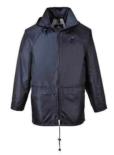 Regenjacke Regenschutz Jacke Rain-Jacket wasserdicht Nässeschutz Portwest (Marine, 5XL)