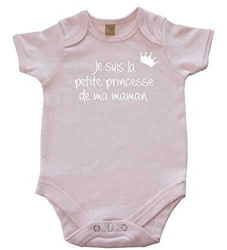DSTNY Body Bébé Je suis la Petite Princesse de ma Maman Rose 6-12 Mois