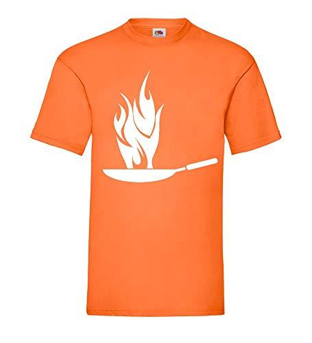 Hot Wok Männer T-Shirt Orange M - shirt84.de