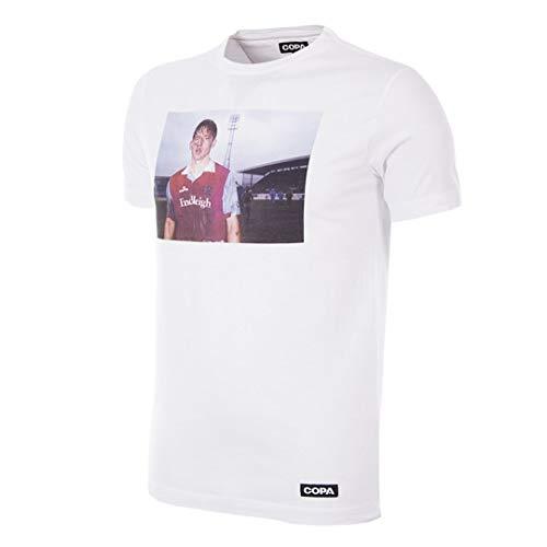 Copa Herren T-Shirt Homes of Football Burnley Rundhalsausschnitt XXL weiß