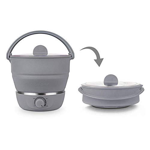 Foldable Electric Hot Pot Cooker Mini Kettle Food Grade Silicone Cookerware Boiling Water Steamer Portable Travel Global Use