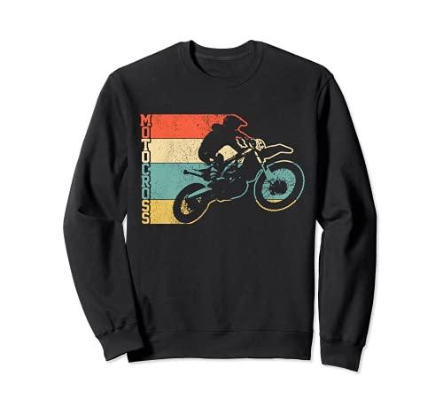 Motocross Vintage Enduro Dirt Bike Moto MX Biker Regalo Felpa