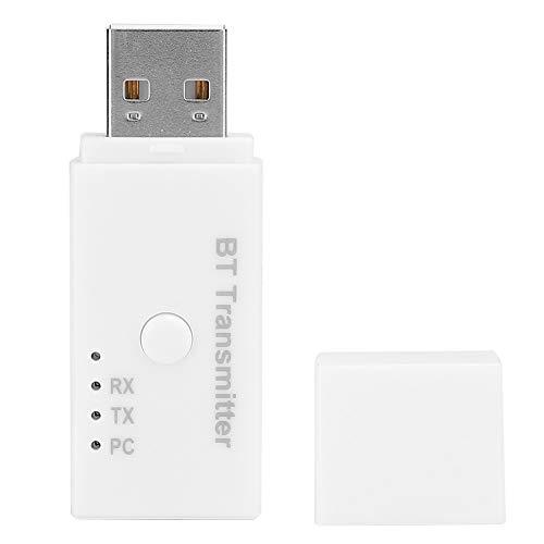 ASHATA Transmisor Bluetooth 5.1, Adaptador de Audio Inalámbrico Transmisor Bluetooth 5.1 de Tres Salidas USB, Transmisor de Audio Inalámbrico para Altavoz, PC, TV, Caja de TV, DVD(Blanco)