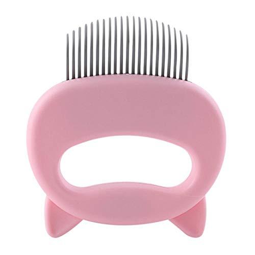 HUAIHUA Pet Massage Brush Shell Shaped Griff Pet Grooming Massage Tool Entfernen Sie Lose Haare Für Katzen Haustiere Zubehör-P_EIN
