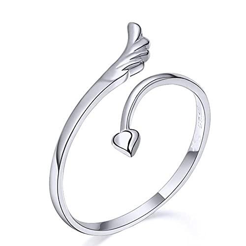 Señoras anillos de apertura unisex anillo hombres mujeres joyería ajustable dragón anillo buenos regalos aleación animal metal, Plata y acero inoxidable,