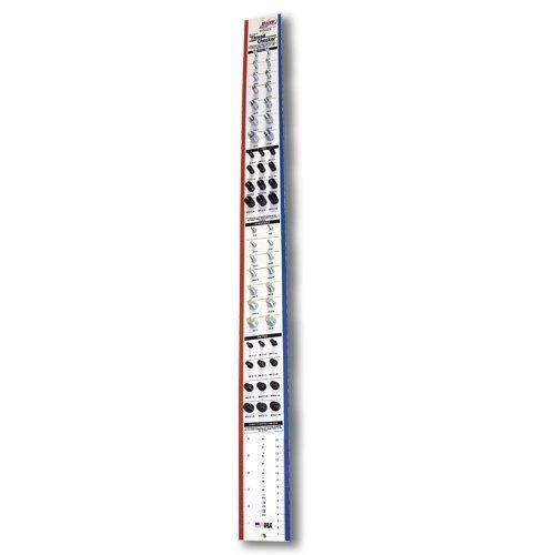 Nut & Bolt Thread Checker (Wall Mounted) White