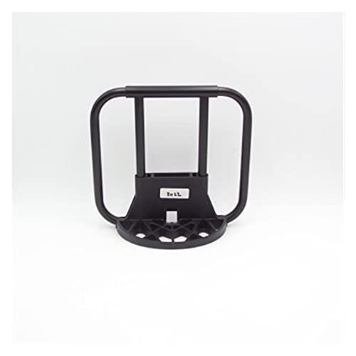 ZZHH Bike S-Bag Soporte Fit para Brompton Plegable Bicicletas Frontal Carrier Marco Mochila Hombro Basket Bag Marcos Piezas de Bicicleta (Color : RX 20X30cm Black)