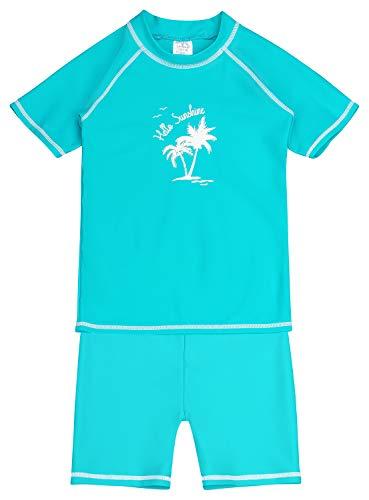 Landora®: Baby- / Kinder-Badebekleidung kurzärmliges 2er Set mit UV-Schutz 50+ und Oeko-Tex 100 Zertifizierung in 134/140
