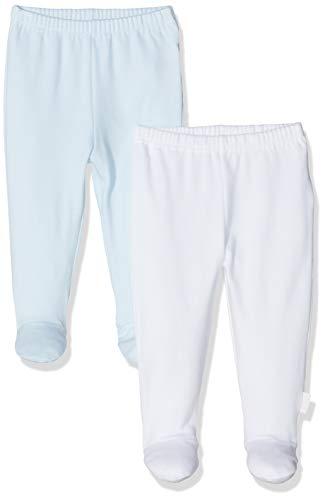 Chicco Set 2 Ghettine Pantaloni, Turchese (Azzurro Chiaro 021), 62 (Taglia Produttore:062) (Pacco da 2) Unisex-Bimbi
