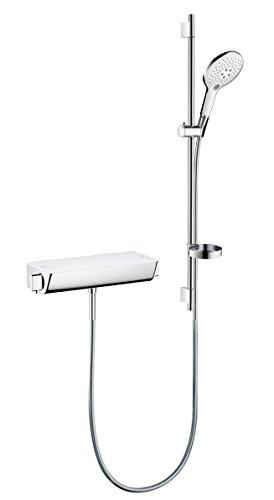 hansgrohe Raindance Select S 150 Thermostatset 0,90m, 3 Strahlarten, Weiß/Chrom