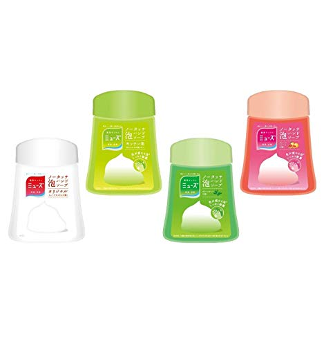 Japan Health and Beauty - Muse no-Touch Foam Hand Soap Refill Variety Set (Original/Kitchen/Green Tea/Grapefruit Each 250ml) (About 1000 Times) Automatic Dispenser Sterilization moisturizingAF27
