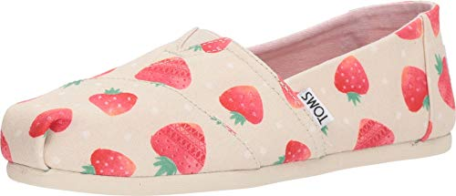 Womens Toms Classics Espradille Pumps in Birch Strawberries and Cream