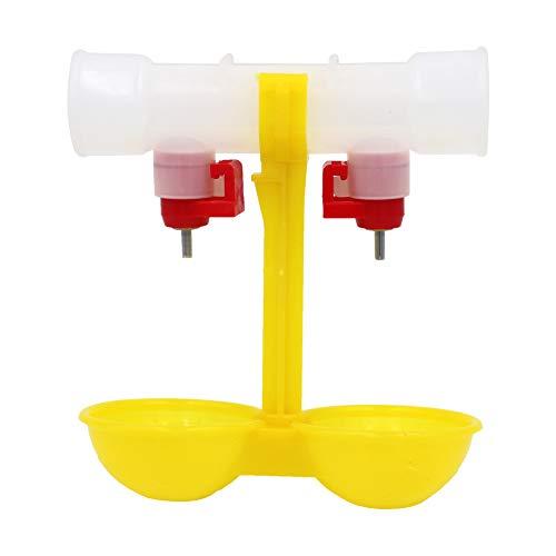 PROBEEALLYU hühner futterspender Trinkbrunnen für Hühner, 2 hängende Becher hühner trink nippel, 5 Stück Trinkwasser für Wachteln/Vögel/Taube